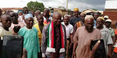 Hon Alhassan Umar with his supporters