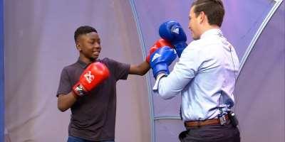 VIDEO: Azumah Nelson, Asamoah Gyan Tip Joseph Awinongya Jr., As Next World Champion