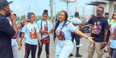 PHOTOS: Mona4Real linked up with Ghana Union of DJs to keep fit