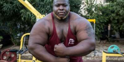 Iron Biby notched up two world powerlifting records in less than a month.  By OLYMPIA DE MAISMONT (AFP/File)