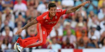 Jade Dernbach played 35 T20s for England up to 2014 before changing allegiance to Italy.  By JEWEL SAMAD (AFP/File)
