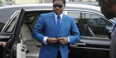 Teodoro Obiang was accused of diverting state assets into his own bank accounts to fund a luxurious lifestyle.  By JEROME LEROY (AFP/File)