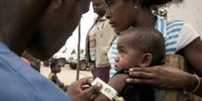 The number of acutely malnourished children is likely to increase fourfold since an October 2020 assessment, WFP and UNICEF said.  By RIJASOLO (AFP/File)