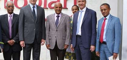 French Minister For Economy And Finance Visits Ethiopian Airlines