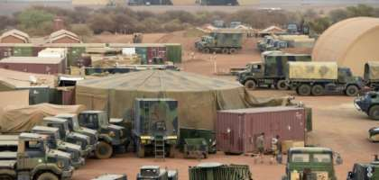 The base is shared between the French military, the UN peacekeeping mission in Mali, known as MINUSMA, and Mali's armed forces.  By PHILIPPE DESMAZES (AFP/File)