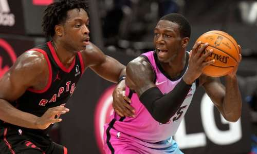 Miami Heat guard Kendrick Nunn scored a season-best 28 points off the bench in their win over the Toronto Raptors