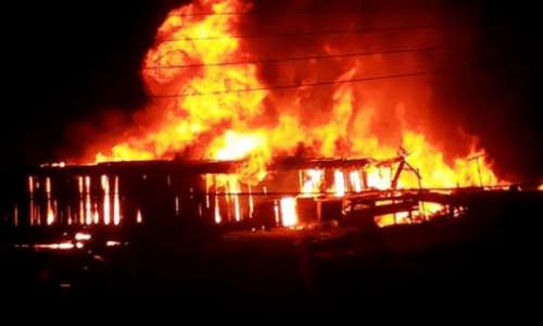 Breaking News: Mankessim Market currently on fire [Video]