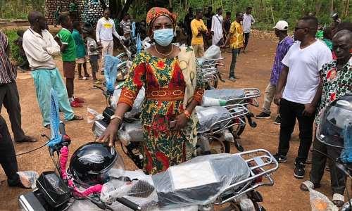 MP for Salaga South donates 15 motorbikes to the Konkomba Ward