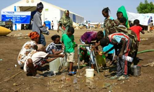 Tens of thousands have poured into neighbouring Sudan.  By ASHRAF SHAZLY (AFP/File)