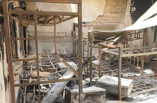 Angry chief wants student destroyers punished over Nyinahin SHS suspected arson