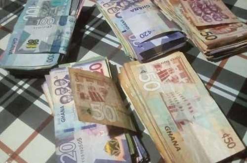 Thief returns Ghc9,700 stolen cash to popular fetish priest, spent Ghc300 [PHOTOS]