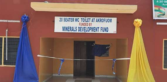 Adansi Akrofuom:90-year-old toilet facility replaced through MDF