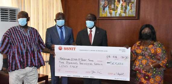 SSNIT Donates Ghc500,000 To COVID-19 Fund