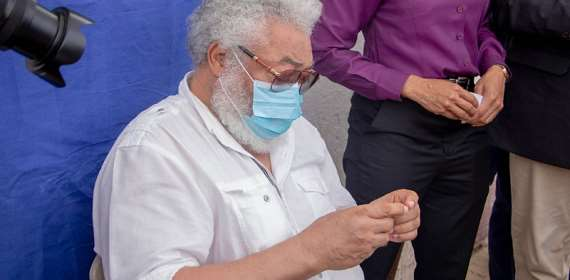 JJ Rawlings Secures His New Voter ID Card