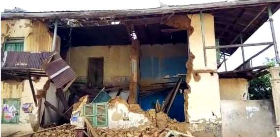 Portions of Akim Oda chief's palace collapses