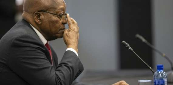 S.Africa's Zuma shrugs off graft allegations at inquiry