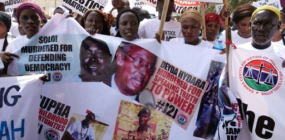 Gambians rally seeking dicator's trial for murder, rights abu