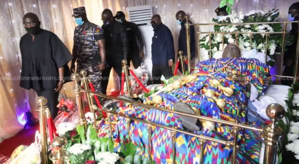 Akufo-Addo, Bawumia And Speaker Mourn Late Mfansteman MP At Funeral
