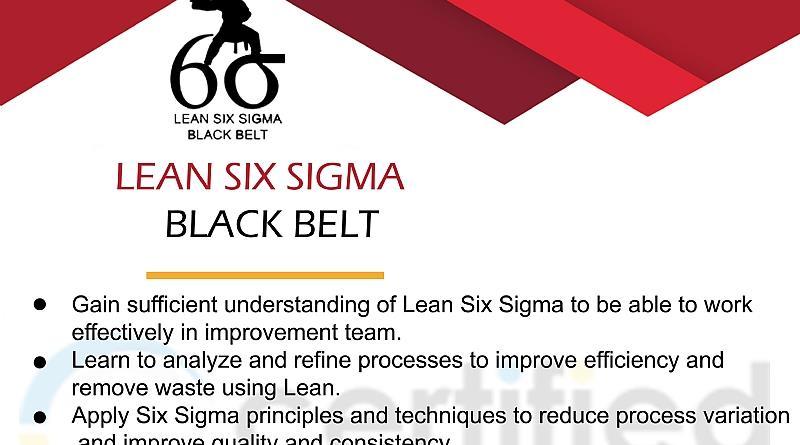 Learn Six Sigma Black Belt Certification Training