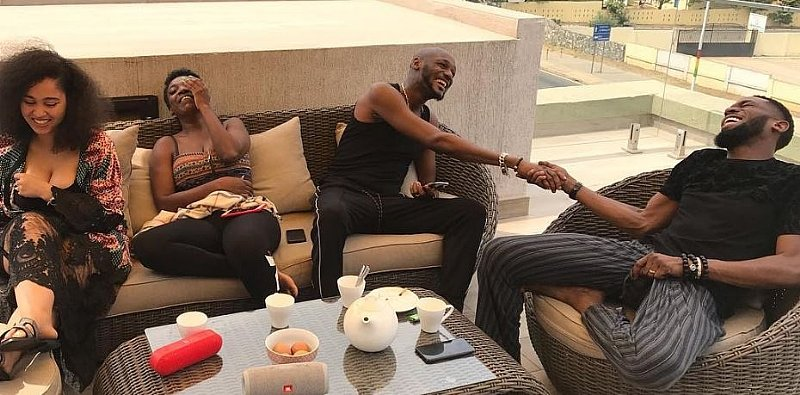 Singer, D'banj, 2Baba Hangs out with Their Wives
