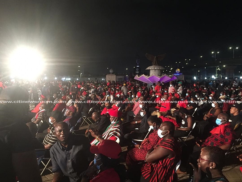 [Photos] NDC Holds Night Vigil In Honour Of Rawlings