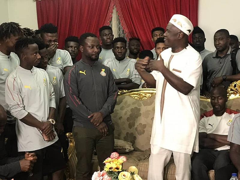 Ghana's Ambassador To Egypt Hosts Black Meteors Ahead Of Cote d'Ivoire Game - Modern Ghana