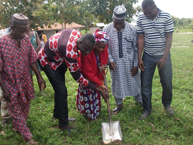 Tain DCE Cut Sod For Construction Of 6 Unit Classroom At Brohani