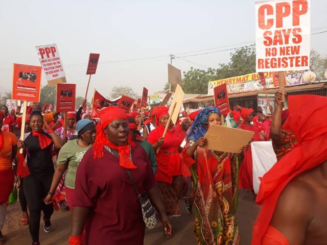 'Yenpini' Demo Hit Kumasi Against New Voters' Register