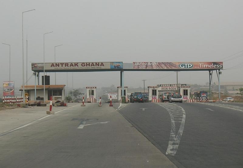 u2018machomen u2019 take over motorway toll booths