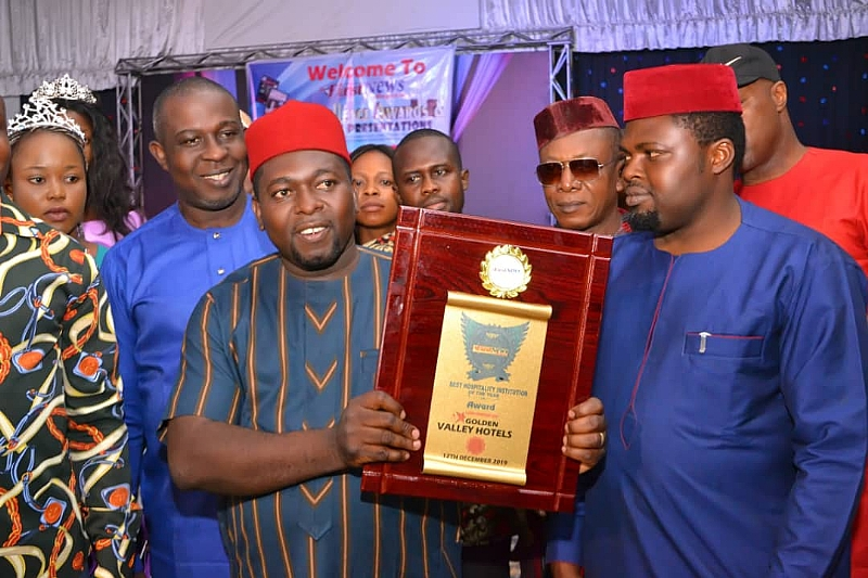 Governor Ifeanyi Ugwuanyi, Joel Ugwoke, Bag FirstNews Magazine Award