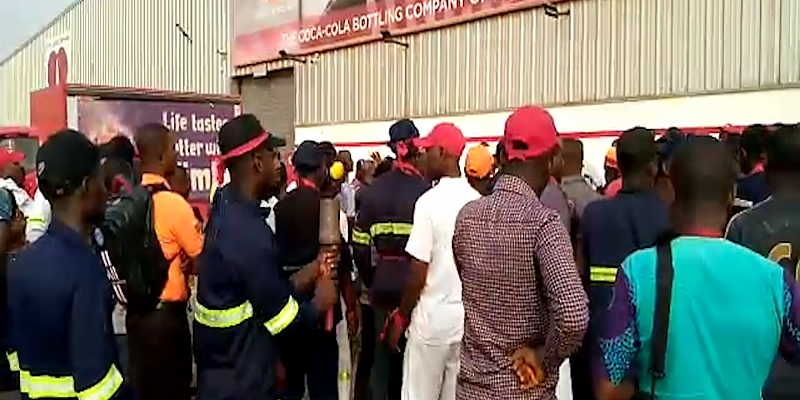 Angry Workers Of Coca-Cola Ghana Want Sacked MD Back