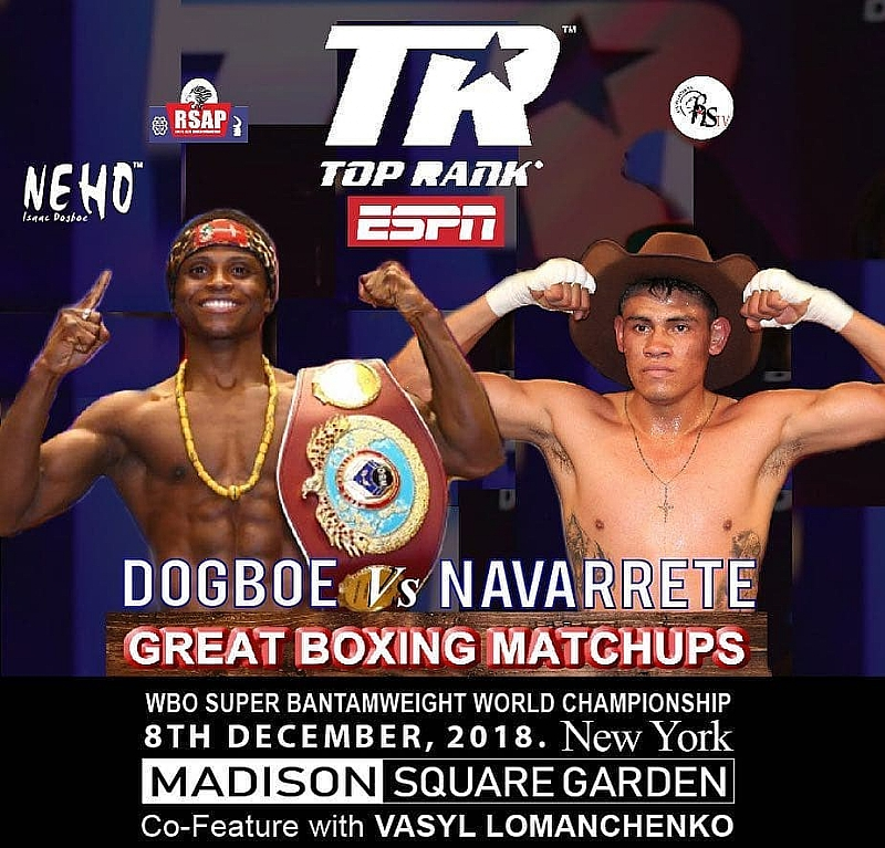 FIGHT NIGHT: Dogbe Fights Navarrete Tonight