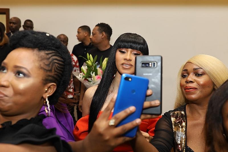 Rapper Cardi B Parties With Burna Boy, Zlatan, Tiwa Savage And Darey Art-Alade In Lagos!