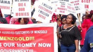 Kumasi: Menzgold Customers Stage Demo