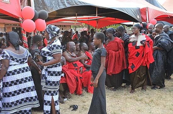 Upacara pemakaman di Ghana