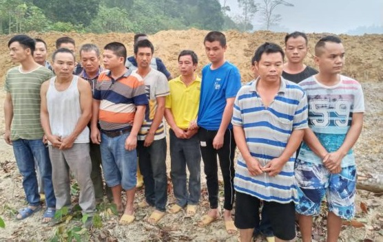 14 Chinese Illegal Miners Grabbed