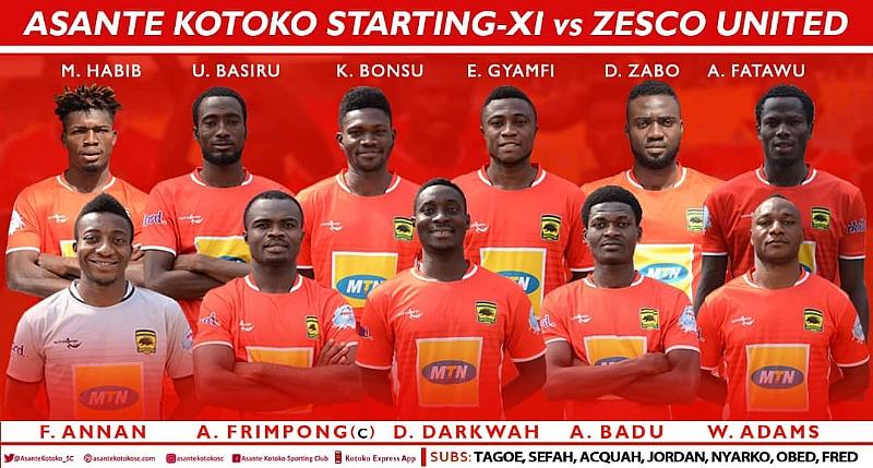 CAF CC: Kotoko Names Starting Line-Up Against ZESCO United