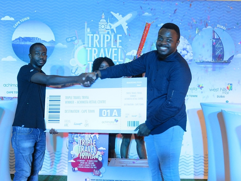 male shoppers emerged winners of malls holiday travel trivia final