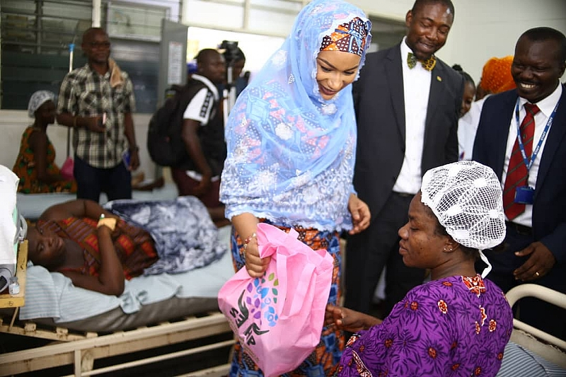 Second Lady Samira Visits Eastern Regional Hospital