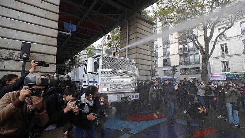 Tear gas fired as Paris police try to disperse banned pro-Palestinian rally