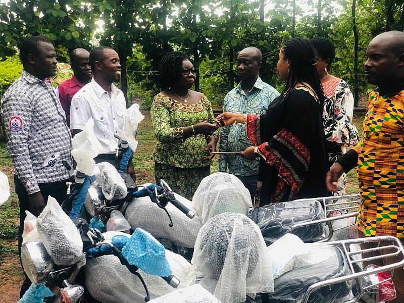 Afram Plains North MP Donates Motorbikes To Hardworking Teachers
