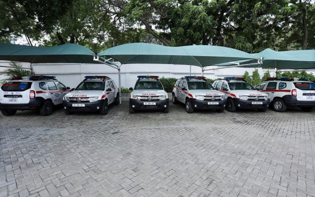 First Lady Donates 6 Ambulances To Hospitals