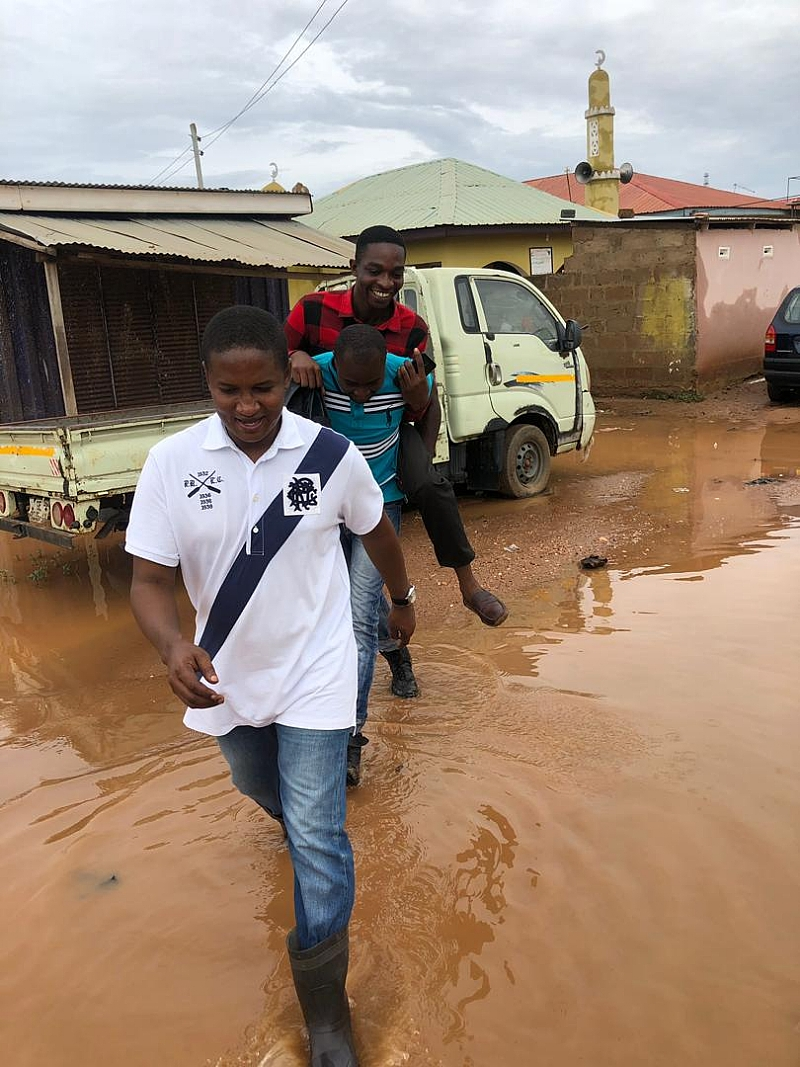 Mohammed Adamu Ramadan Visits Flood Victims In The Adentan Constituency