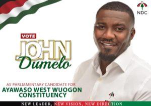 John Dumelo Battle-Ready For Ayawaso West Wuogon 2020