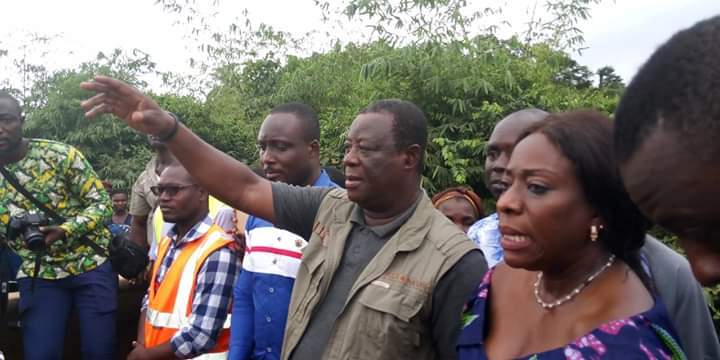 Roads Minister cuts sod for construction of deplorable Gwira Aiyinasi-Gwira Wiawso road