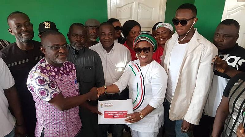 NDC's Faustina Akurugu Files Nomination To Contest Dome-Kwabenya Seat