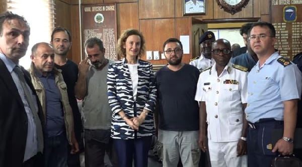Ghana Navy Rescues 8 Turkish Seafarers From Pirates