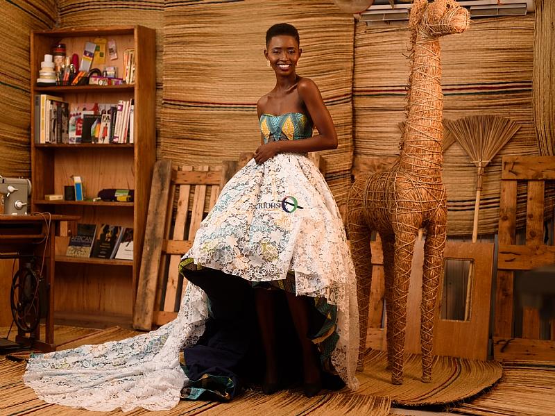 fashion schools in ghana model gina akala turns fashion