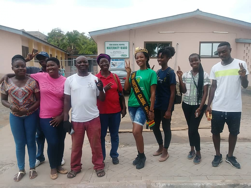 Tema Central Community Scorecard Team Cleans Up Tema General Hospital