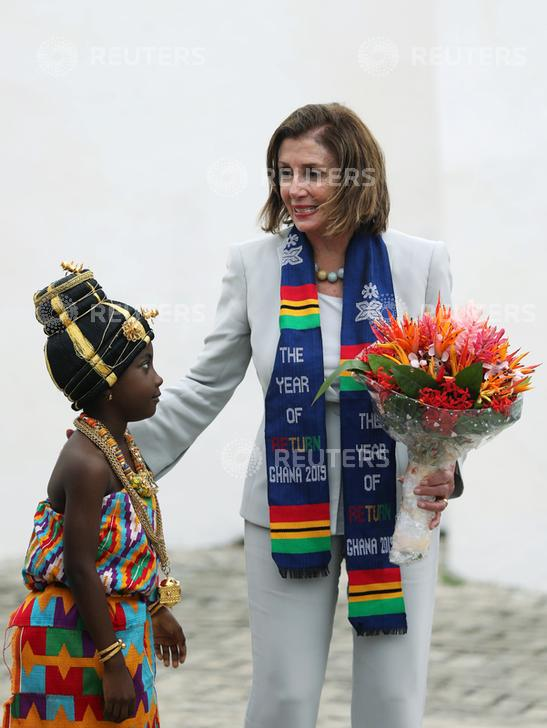 Pelosi, Congressional Delegation Honor Ghana's Rich Tradition In Ceremony With Paramount Chiefs, Visit Historic Slave Sites to Mark 'The Year of Return'